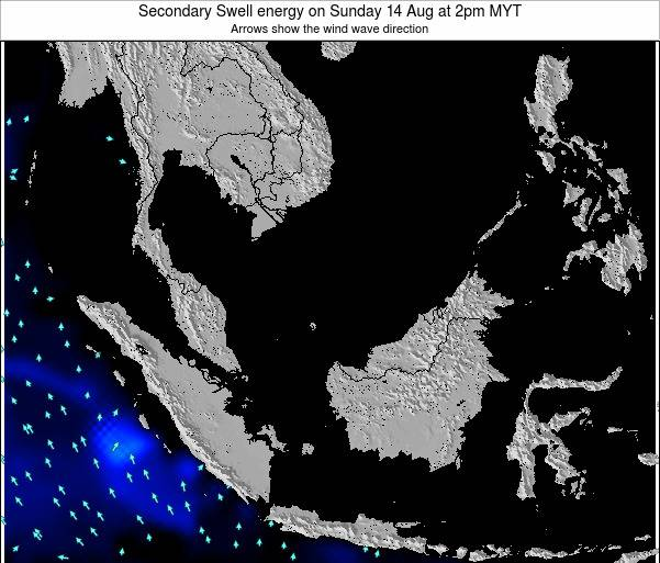 Malaysia Secondary Swell energy on Sunday 26 May at 8pm MYT