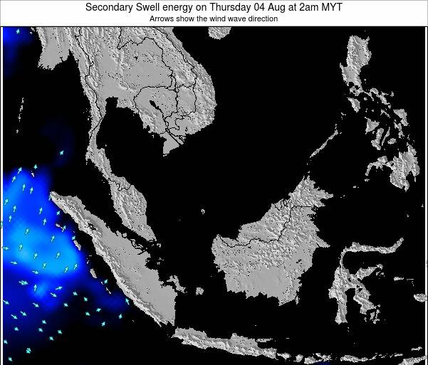 Malaysia Secondary Swell energy on Sunday 08 Dec at 8am MYT