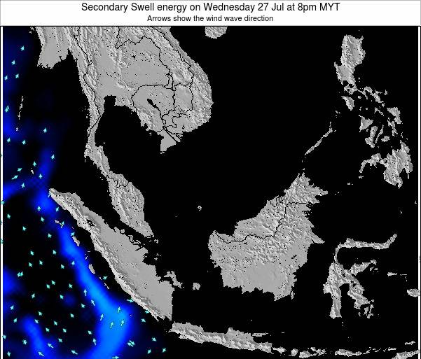 Malaysia Secondary Swell energy on Wednesday 12 Mar at 2am MYT