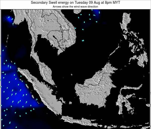 Malaysia Secondary Swell energy on Thursday 18 Sep at 8pm MYT