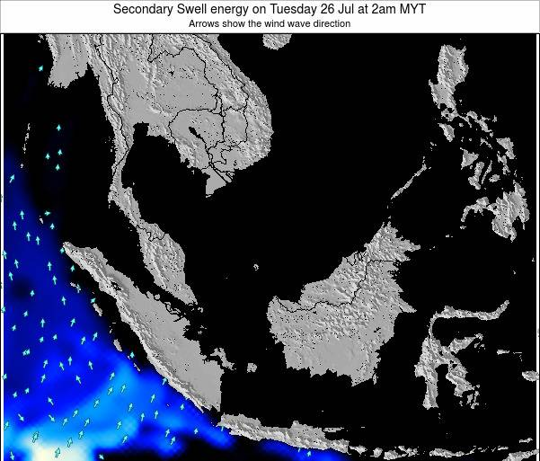 Malaysia Secondary Swell energy on Friday 26 Dec at 2am MYT