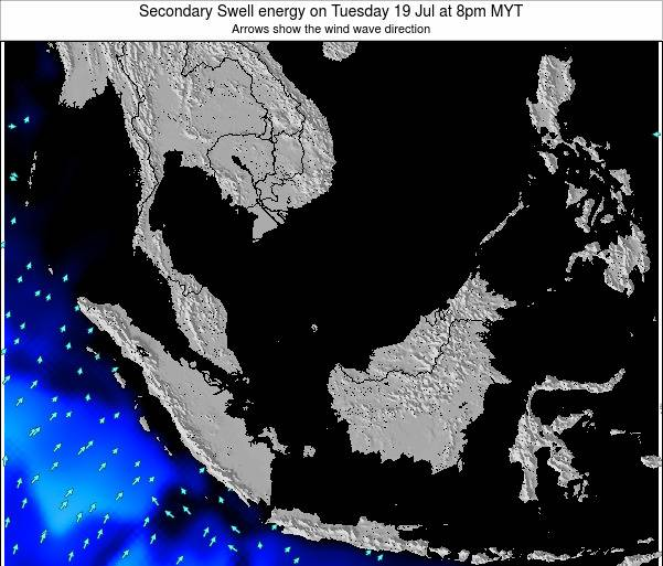 Malaysia Secondary Swell energy on Monday 28 Jul at 8pm MYT