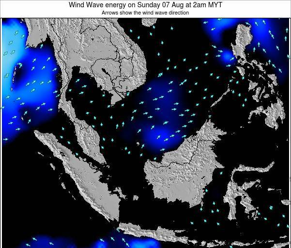 Brunei Darussalam Wind Wave energy on Thursday 13 Mar at 2pm MYT