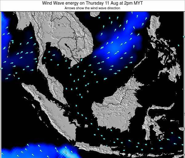 Brunei Darussalam Wind Wave energy on Monday 28 Apr at 2pm MYT