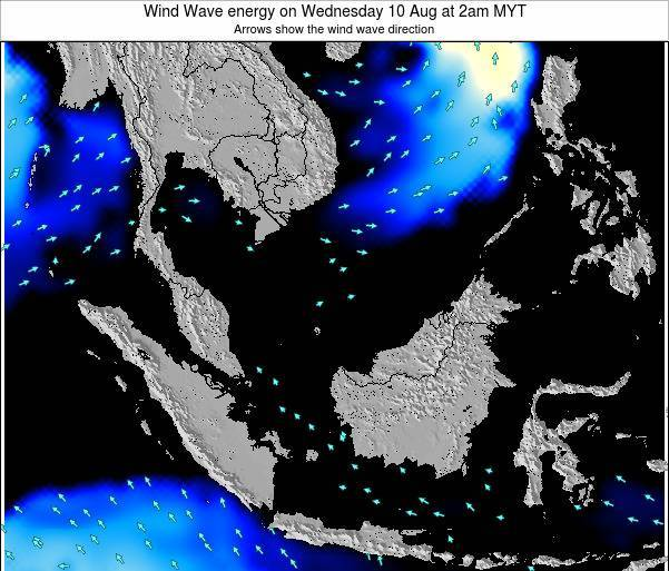 Brunei Darussalam Wind Wave energy on Sunday 27 Jul at 8pm MYT