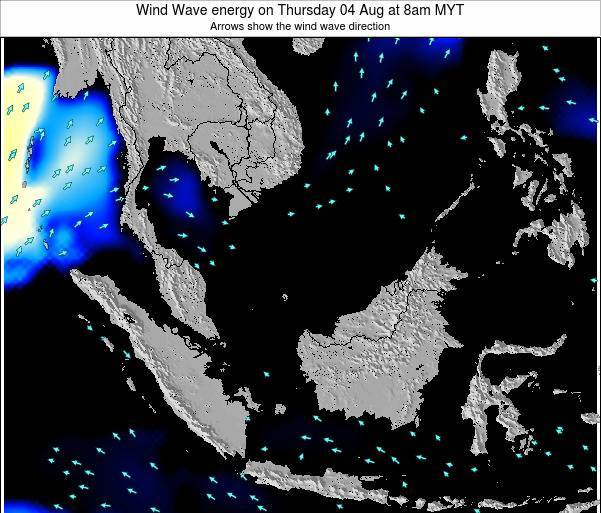 Brunei Darussalam Wind Wave energy on Sunday 20 Aug at 8pm MYT