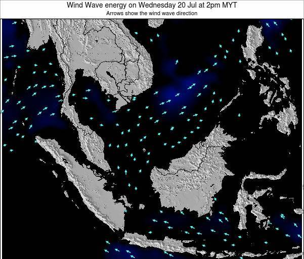 Brunei Darussalam Wind Wave energy on Saturday 14 Dec at 2am MYT