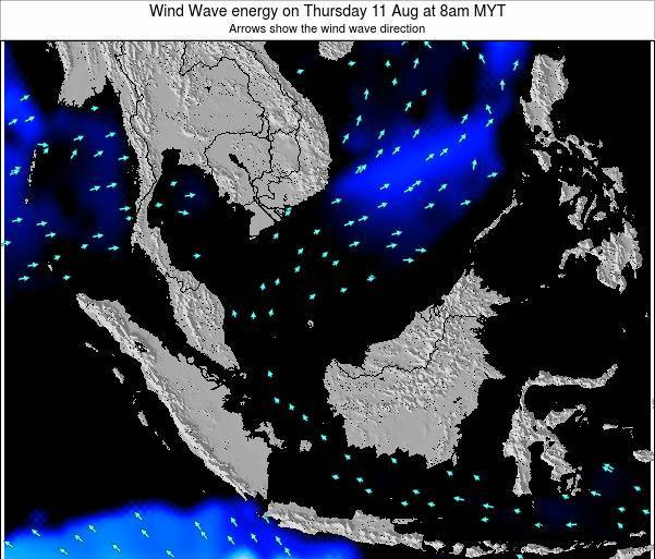 Brunei Darussalam Wind Wave energy on Saturday 06 Sep at 2pm MYT