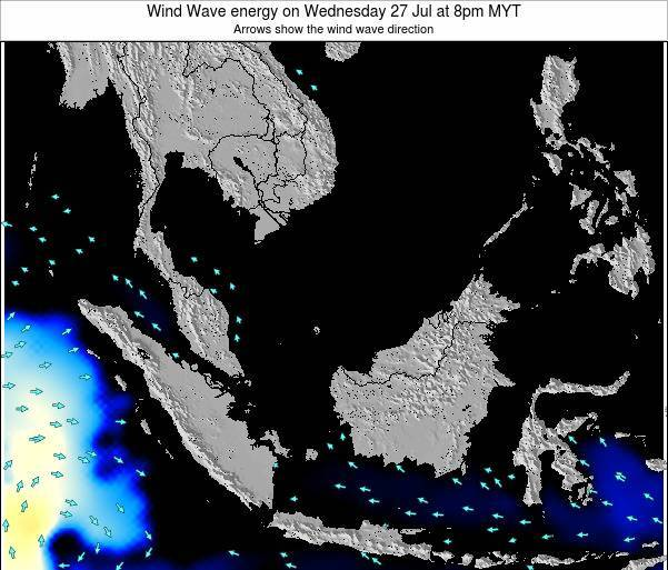 Brunei Darussalam Wind Wave energy on Friday 25 Apr at 2am MYT