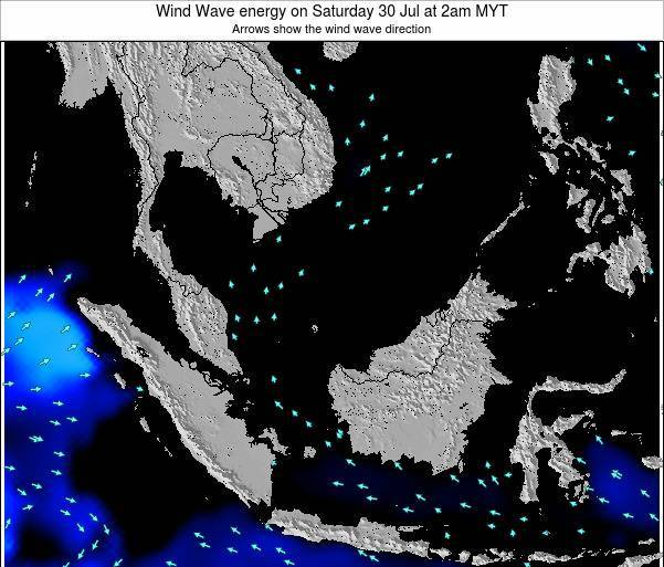 Brunei Darussalam Wind Wave energy on Friday 29 Jun at 8pm MYT map