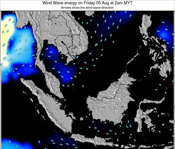 Malaysia Wind Wave energy on Friday 01 Dec at 2am MYT map