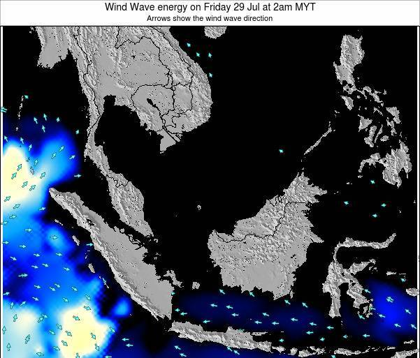 Malaysia Wind Wave energy on Tuesday 22 Apr at 2am MYT