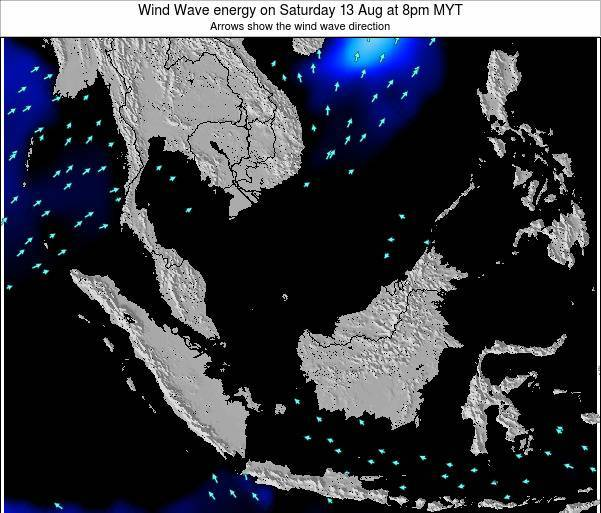 Malaysia Wind Wave energy on Sunday 16 Mar at 2am MYT