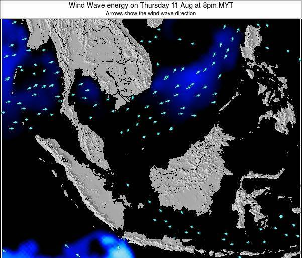 Malaysia Wind Wave energy on Monday 25 Aug at 8pm MYT
