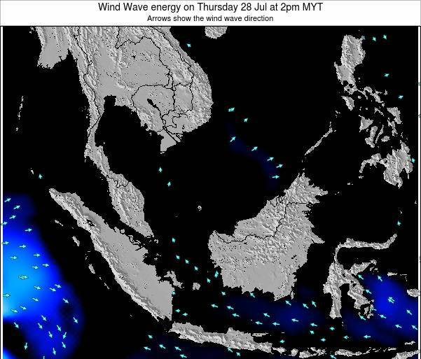 Malaysia Wind Wave energy on Saturday 25 May at 8am MYT