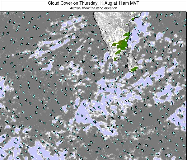 Maldives Cloud Cover on Wednesday 23 Apr at 5pm MVT