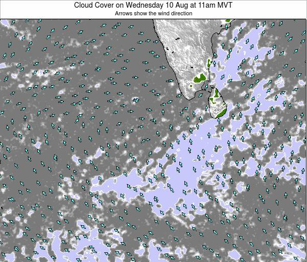 Maldives Cloud Cover on Monday 24 Jun at 11am MVT