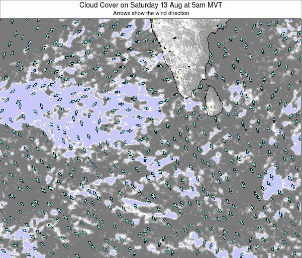Sri Lanka Cloud Cover on Wednesday 29 May at 5am MVT map