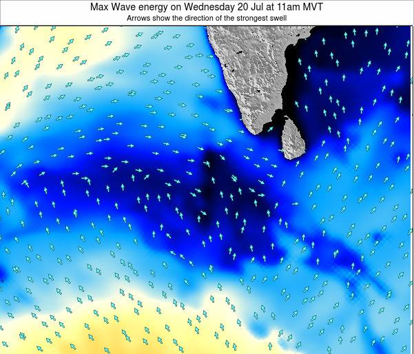 Maldives Max Wave energy on Saturday 07 Dec at 11pm MVT