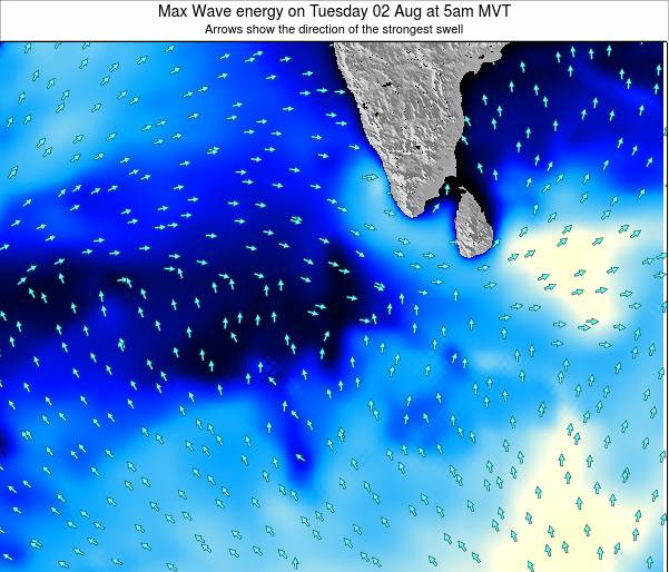 Maldives Max Wave energy on Sunday 19 May at 11am MVT
