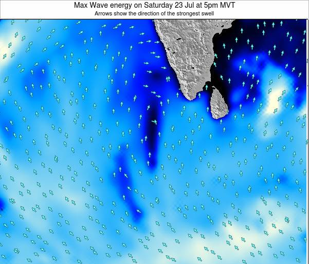 Maldives Max Wave energy on Sunday 26 Oct at 5pm MVT
