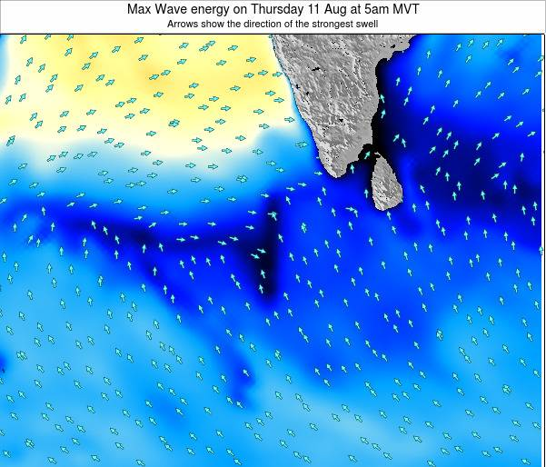 Maldives Max Wave energy on Thursday 13 Mar at 11pm MVT
