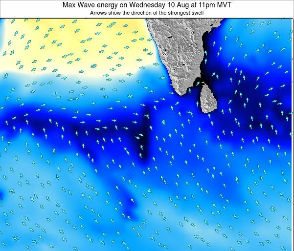Maldives Max Wave energy on Friday 25 Apr at 11am MVT