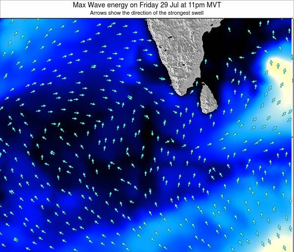 Maldives Max Wave energy on Tuesday 29 Jul at 5am MVT