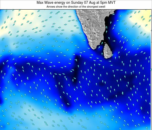 Maldives Max Wave energy on Tuesday 11 Mar at 5am MVT