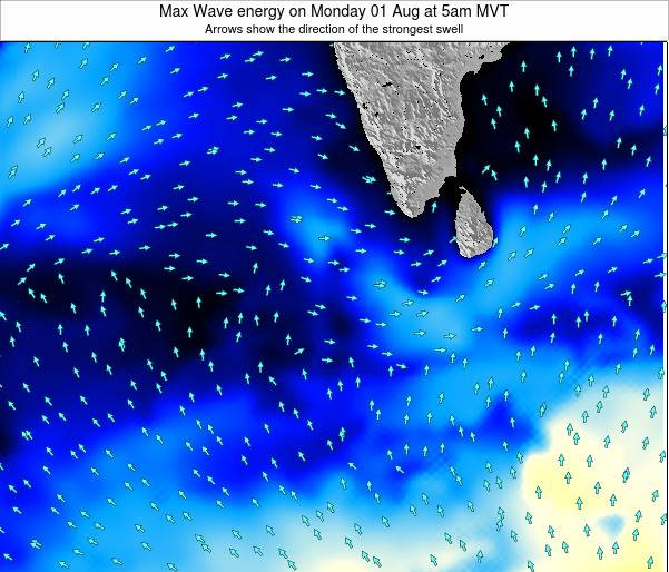 Maldives Max Wave energy on Thursday 12 Dec at 5pm MVT