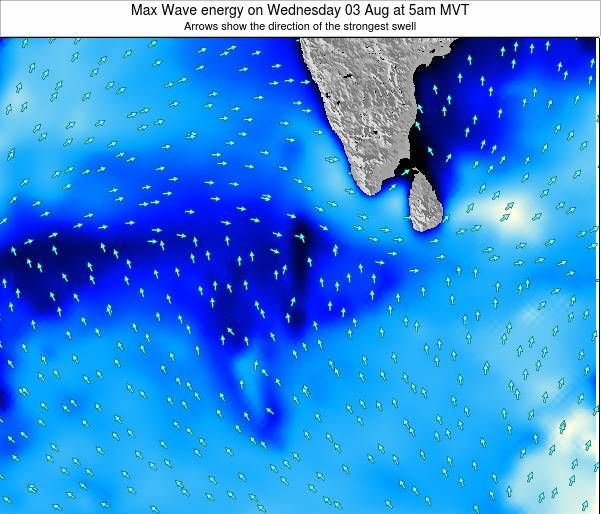 Maldives Max Wave energy on Wednesday 12 Mar at 11am MVT