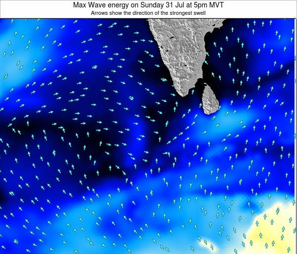 Maldives Max Wave energy on Monday 21 Apr at 11am MVT