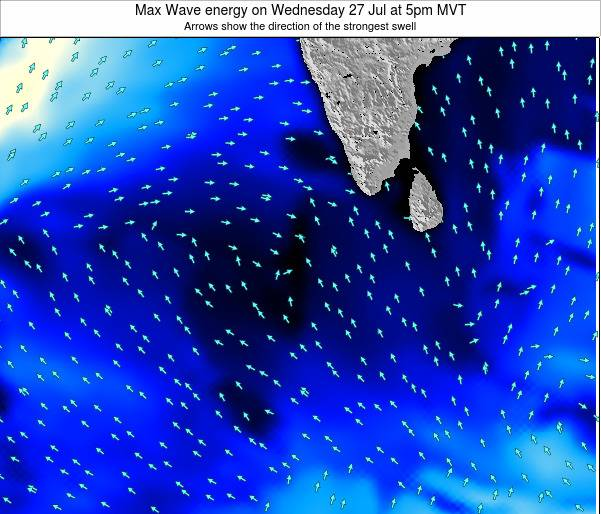 Maldives Max Wave energy on Saturday 22 Jun at 5pm MVT