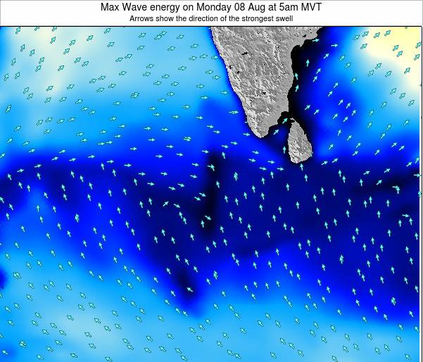 Maldives Max Wave energy on Saturday 22 Jun at 5am MVT