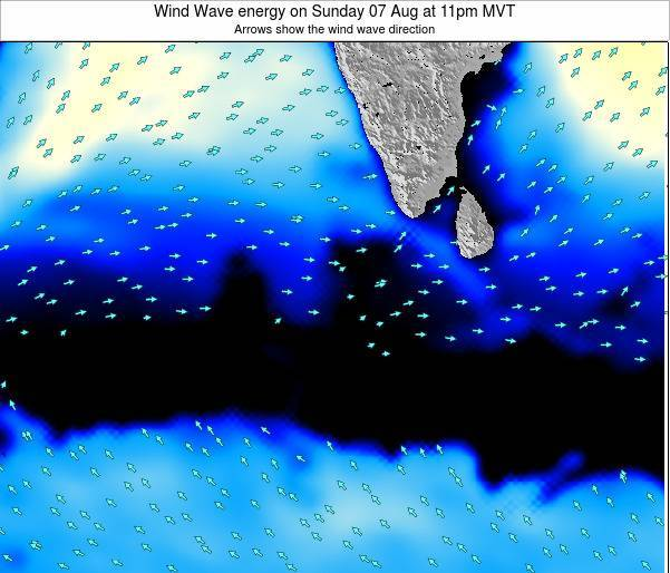 Maldives Wind Wave energy on Thursday 31 Aug at 5am MVT