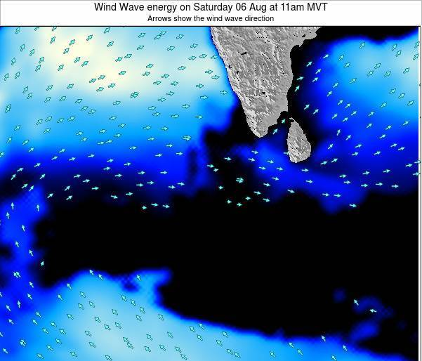 Maldives Wind Wave energy on Friday 24 May at 5am MVT