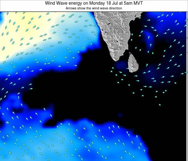 Maldives Wind Wave energy on Sunday 26 May at 5pm MVT
