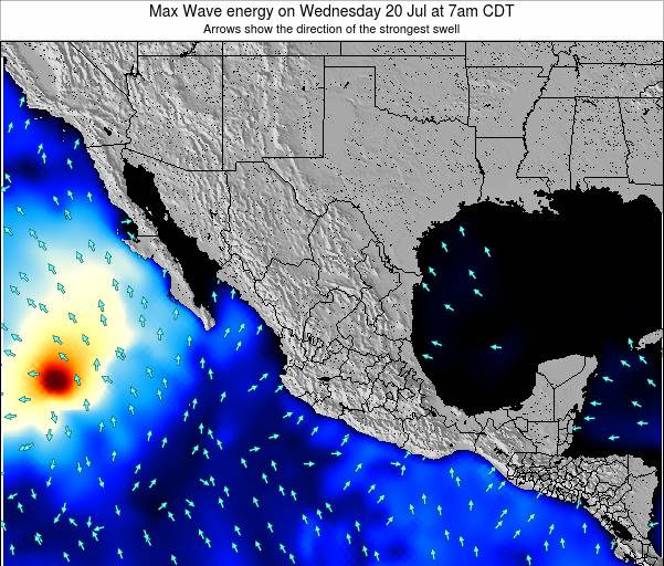 Mexico Max Wave energy on Thursday 30 Oct at 1am CDT