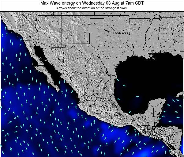 Mexico Max Wave energy on Tuesday 22 Apr at 7pm CDT