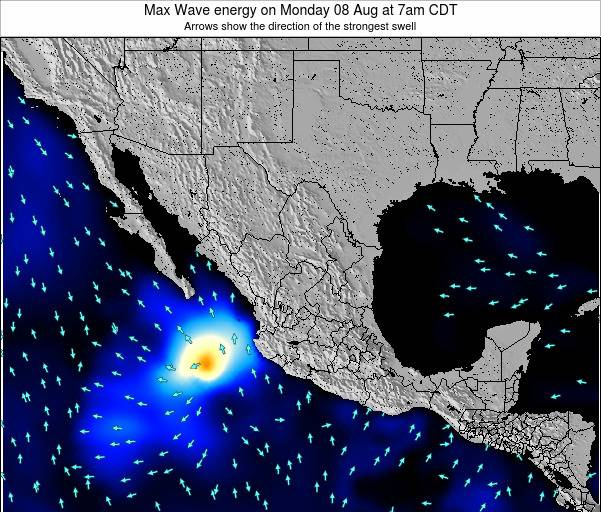 Mexico Max Wave energy on Monday 28 Jul at 7am CDT