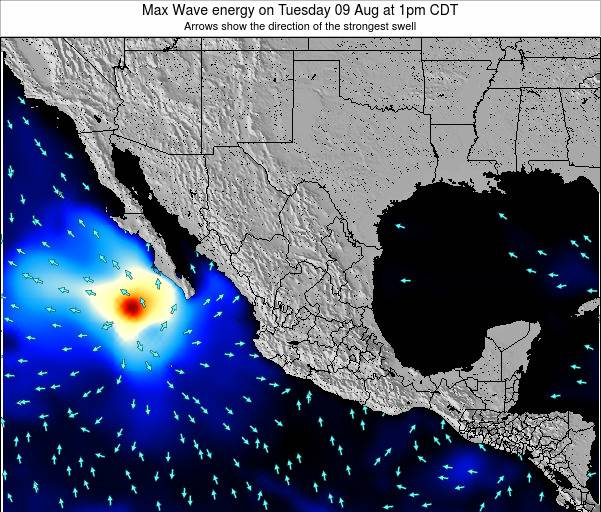 Mexico Max Wave energy on Monday 24 Jun at 1am CDT