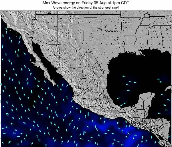 Mexico Max Wave energy on Thursday 26 Dec at 12am CST