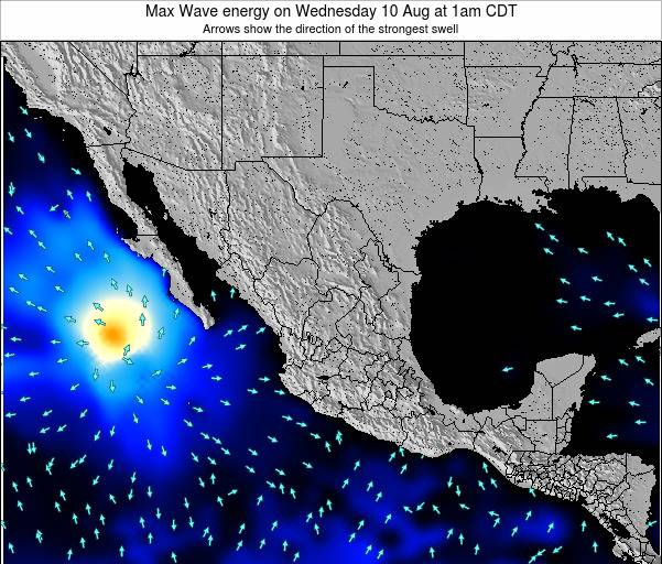 Mexico Max Wave energy on Thursday 01 Mar at 12pm CST map