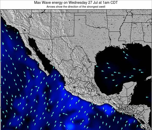 Mexico Max Wave energy on Wednesday 18 Dec at 12am CST
