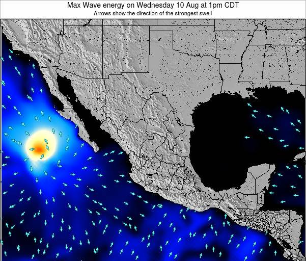 Mexico Max Wave energy on Wednesday 06 Aug at 1pm CDT