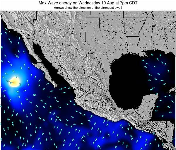 Mexico Max Wave energy on Thursday 05 May at 1pm CDT