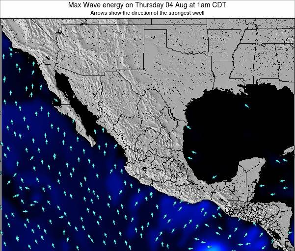 Mexico Max Wave energy on Tuesday 22 Apr at 1am CDT