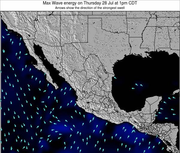 Mexico Max Wave energy on Sunday 27 Apr at 7pm CDT