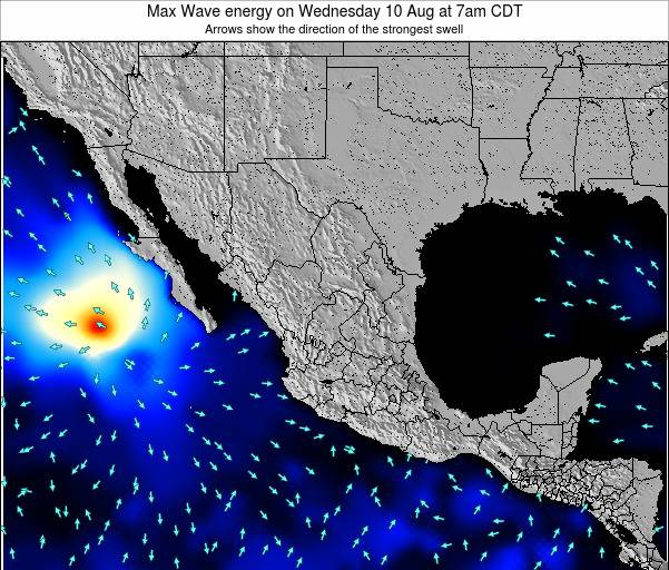 Mexico Max Wave energy on Saturday 03 Sep at 1am CDT