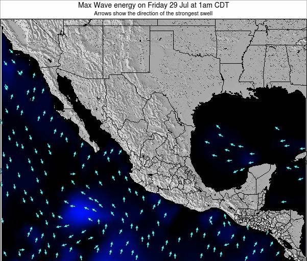 Mexico Max Wave energy on Friday 14 Mar at 12pm CST